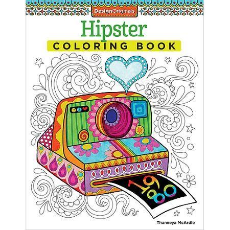 Design Originals, Hipster Adult Coloring Book Walmart