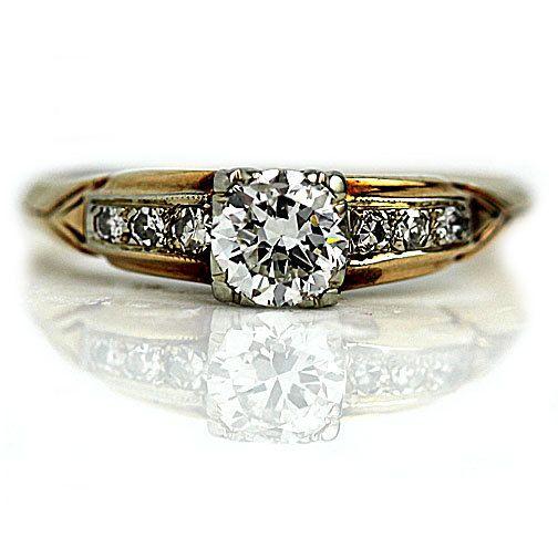1940s Cut Diamond Retro Ring Mid In Engagement European Century50 5F1JT3ulKc