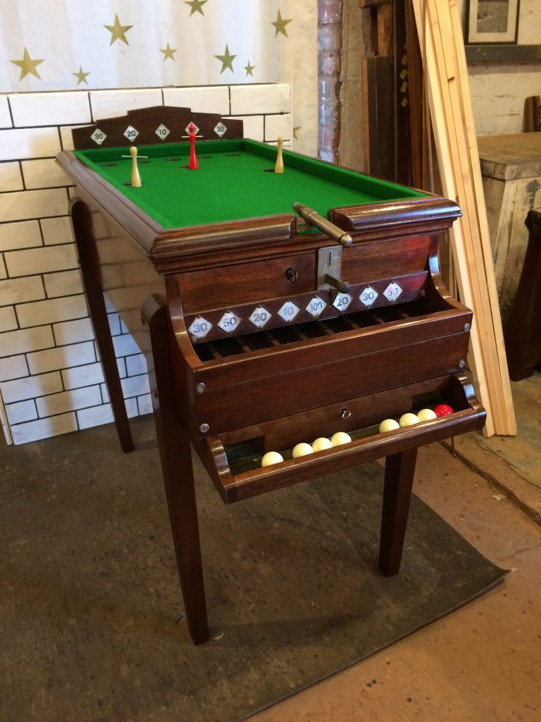 Rare Vintage Bar Billiards Table With Cannon Mancave Pinterest - Cannon pool table
