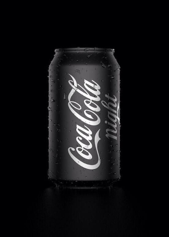 Coca Cola Night black dark packaging style love that. great idea for drink  label coke