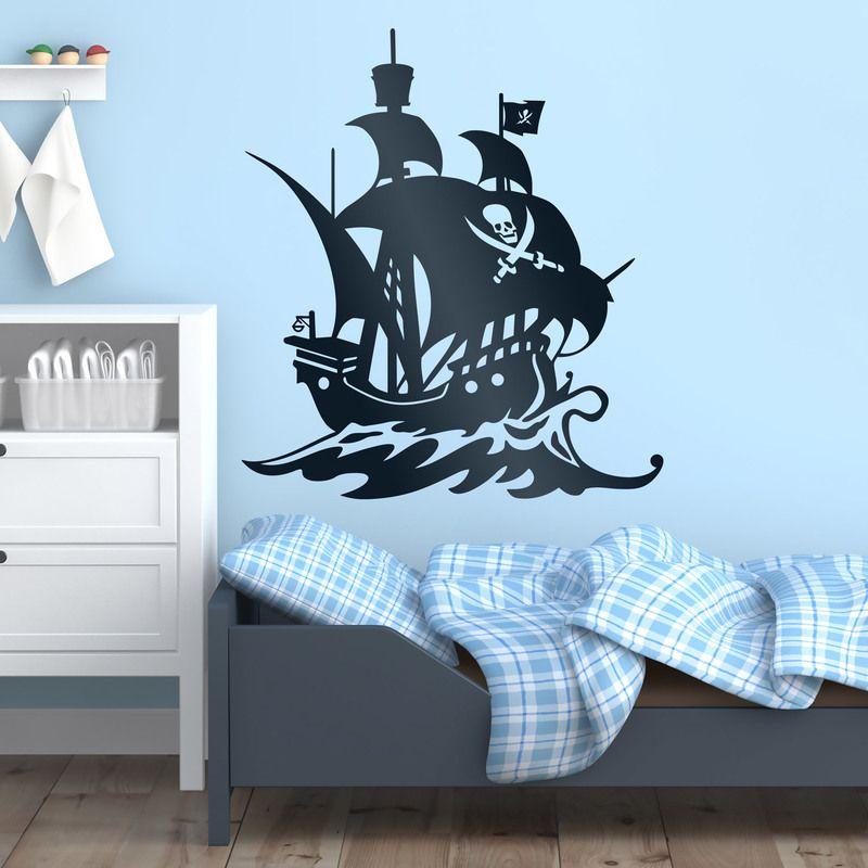 vinilos infantiles barco pirata velero vinilo pared piratas barcos bucanero