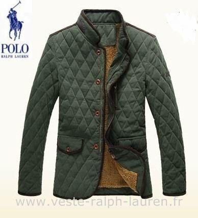 boutique Ralph Lauren hommes manteau nouvelle coton mode pas cher vert  Doudoune Ralph Lauren Femme Pas Cher fef83293afd