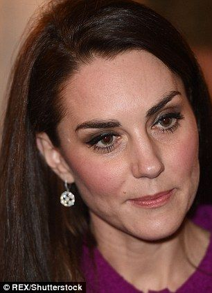 The Duchess, pictured earlier this week, favours dewier make-up and more flattering cream blush
