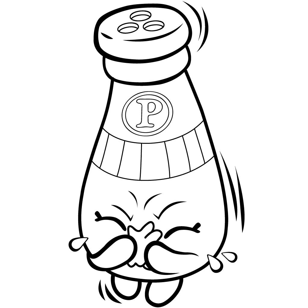 Shopkins Season 1 Peppe Pepper Coloring Page