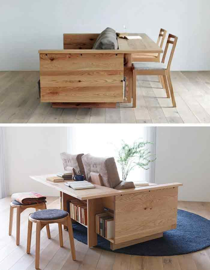 Photo of 28 Really Clever Transforming Furniture + DIY ideas (With Images) | GoDownsize.com