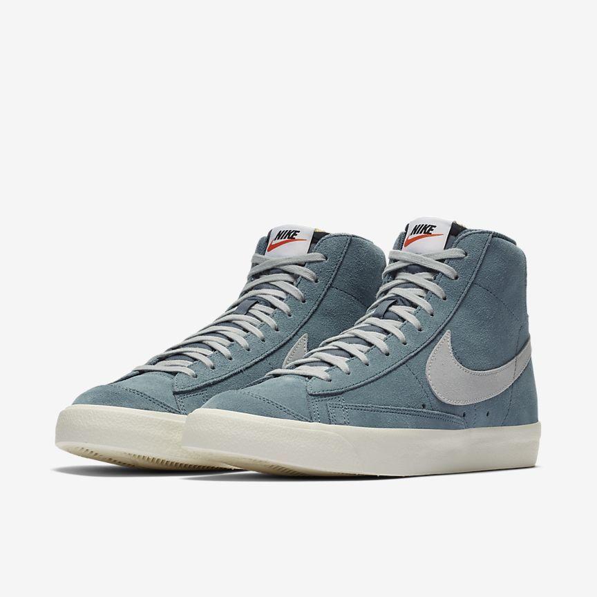 Nike Blazer Mid 77 Schuh Nike De Zapatos De Gamuza Zapatos De Color Azul Zapatos Impresionantes