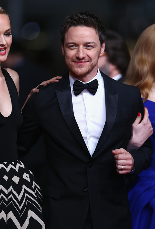 James gorgeous in Cannes