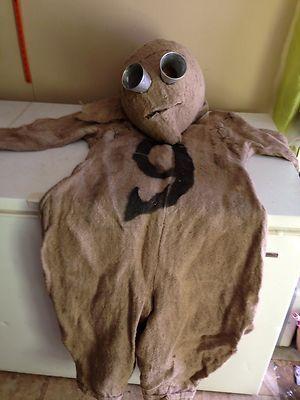 Unique Handmade 9 Costume Tim Burton Burlap Mens L Ooak
