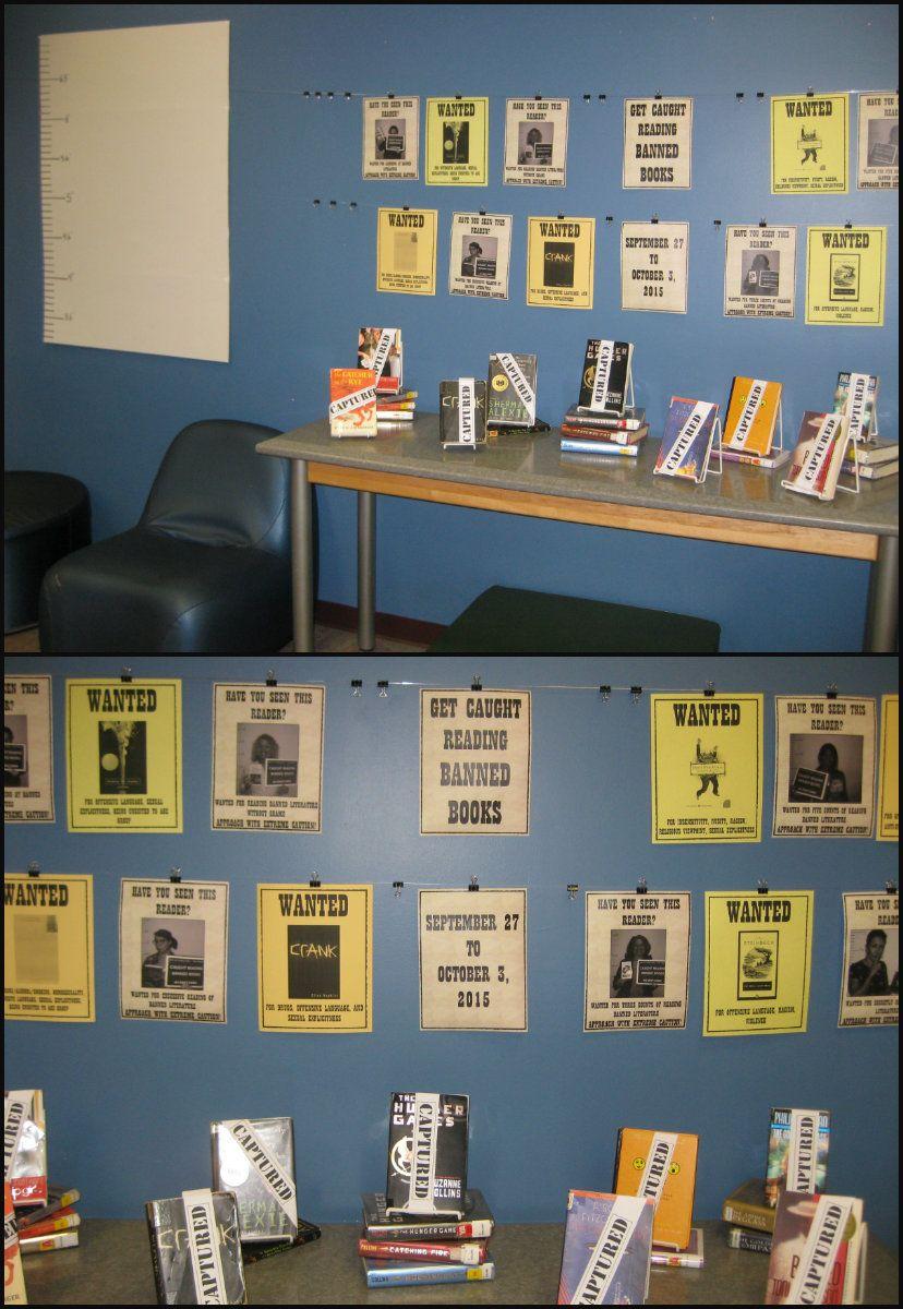 BannedBooksWeek display at the West Kendall Regional