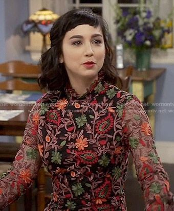 Mandy S Floral Embroidered Dress On Last Man Standing