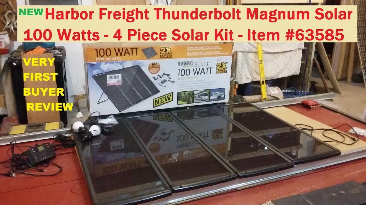 Harbor Freight 100 Watt Solar Kit 63585 New Thunderbolt Magnum See Inf Self Reliant Prepping Homesteading Canning 100 Watt Solar Panel Best Solar Panels Solar Panels