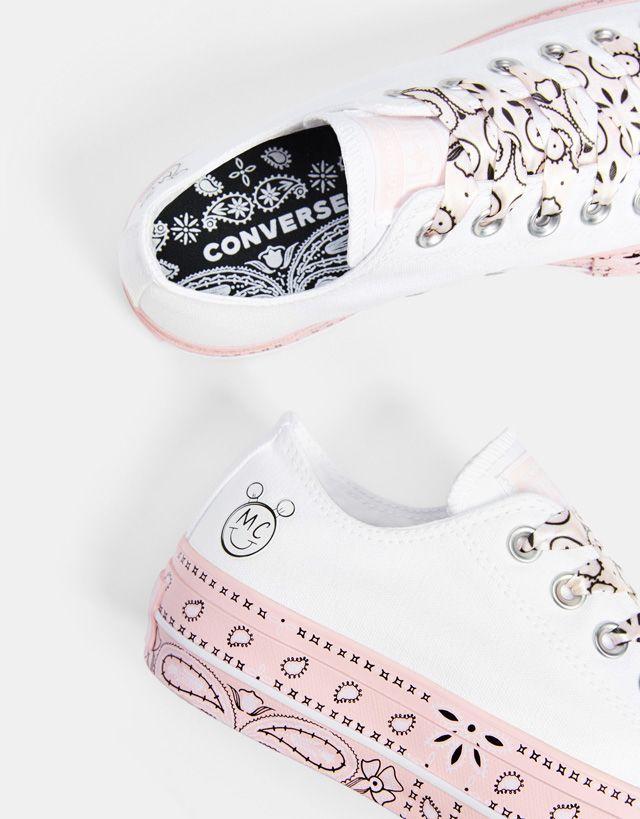 Cyrus Miley Bershka Fabric Waqpx1o6y Sneakers X Platform Converse RjAq3L54