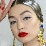 Nieuwe make-up trends lente zomer 2020. Rood en zeep wenkbrauwen   TRENDYSTYLE