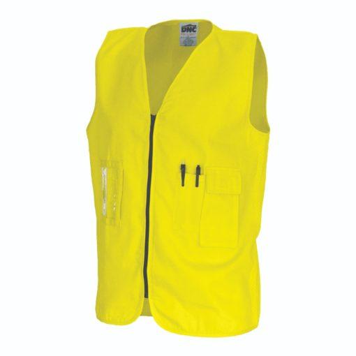 Dnc Workwear Daytime Cotton Safety Vest 3808 Work Wear Fire