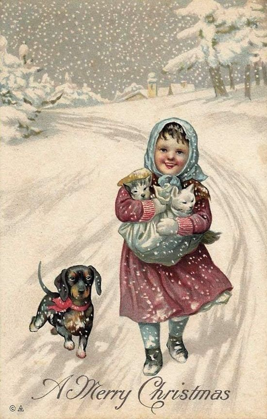 Винтажные рождественские открытки карл фиертаг