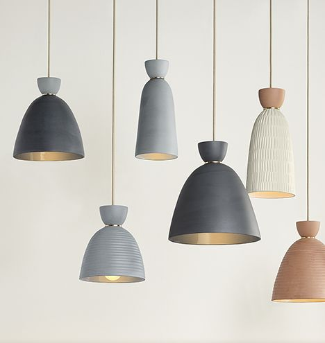 Hazel Small Banded Cone Pendant From Rejuvenation Pendant Lighting Pendant Light Ceramic Pendant Light