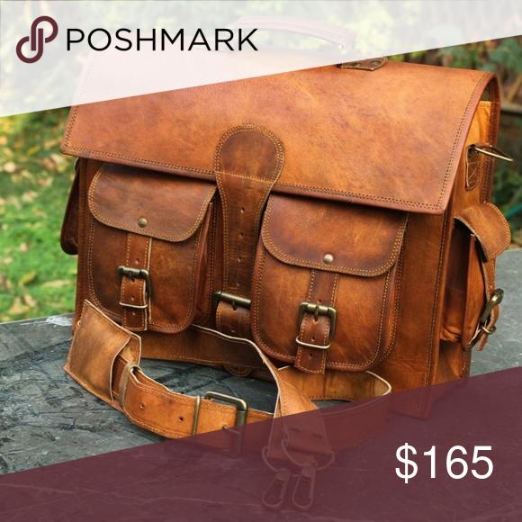 pure leather handmade messenger brown vintage shoulder camera lens satchel bag