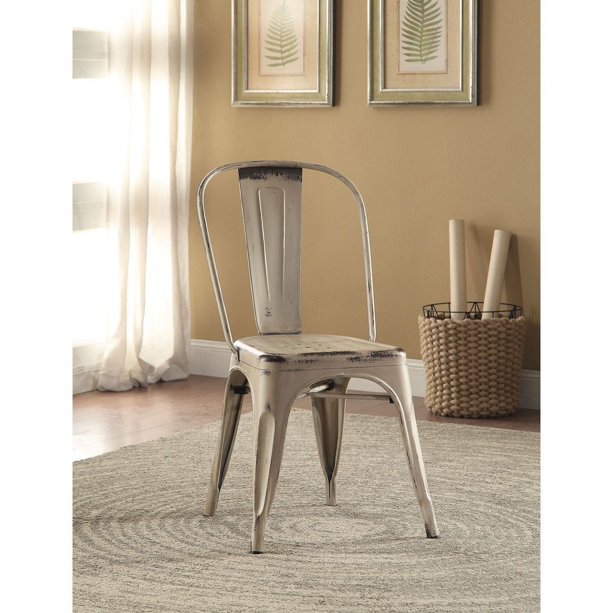 Coaster Company Home Furnishings Metal Chair White (Set of