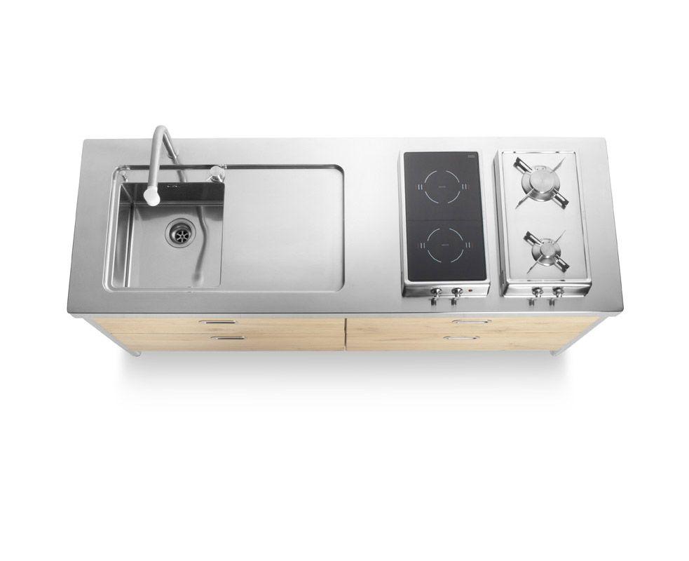Cucine free standing: Cucina 190 [b] da Alpes Inox | casadolcecasa ...