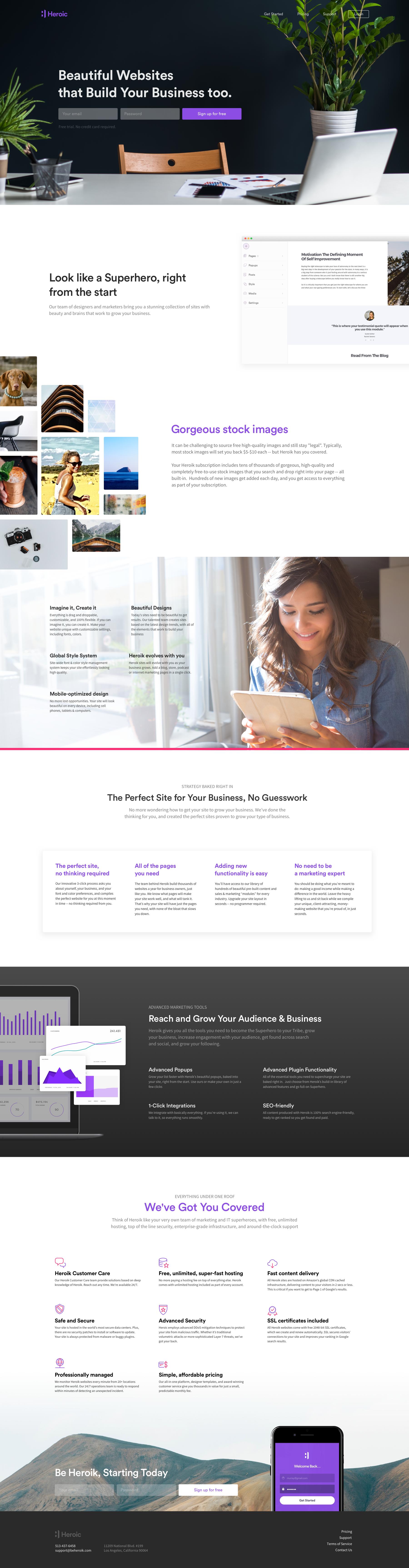 Heroik Homepage 3 Business Web Design Fun Website Design Freelance Web Design