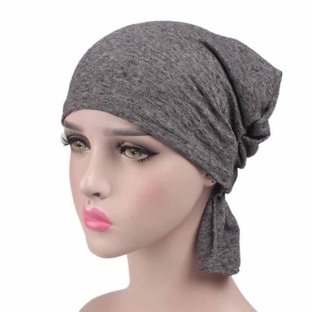 Women Cancer Chemo Hat Beanie Scarf Turban Head Wrap Cap summer Women  Knitted Casual Cotton Hat Casquette gorras hombre 31efd9d480b1
