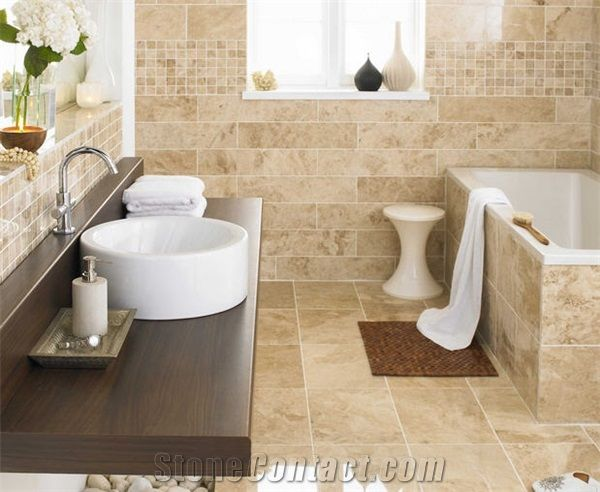 Beige Bathroom Designs Fascinating Cappucino Dark Marble Bathroom Design Wall And Floor Beige Marble Design Ideas