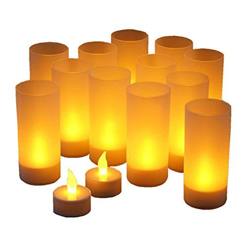 Unscented Holiday Bridal FREE SHIPPING Wedding Set of 12 Glitter Votive Candles Favors Decoration