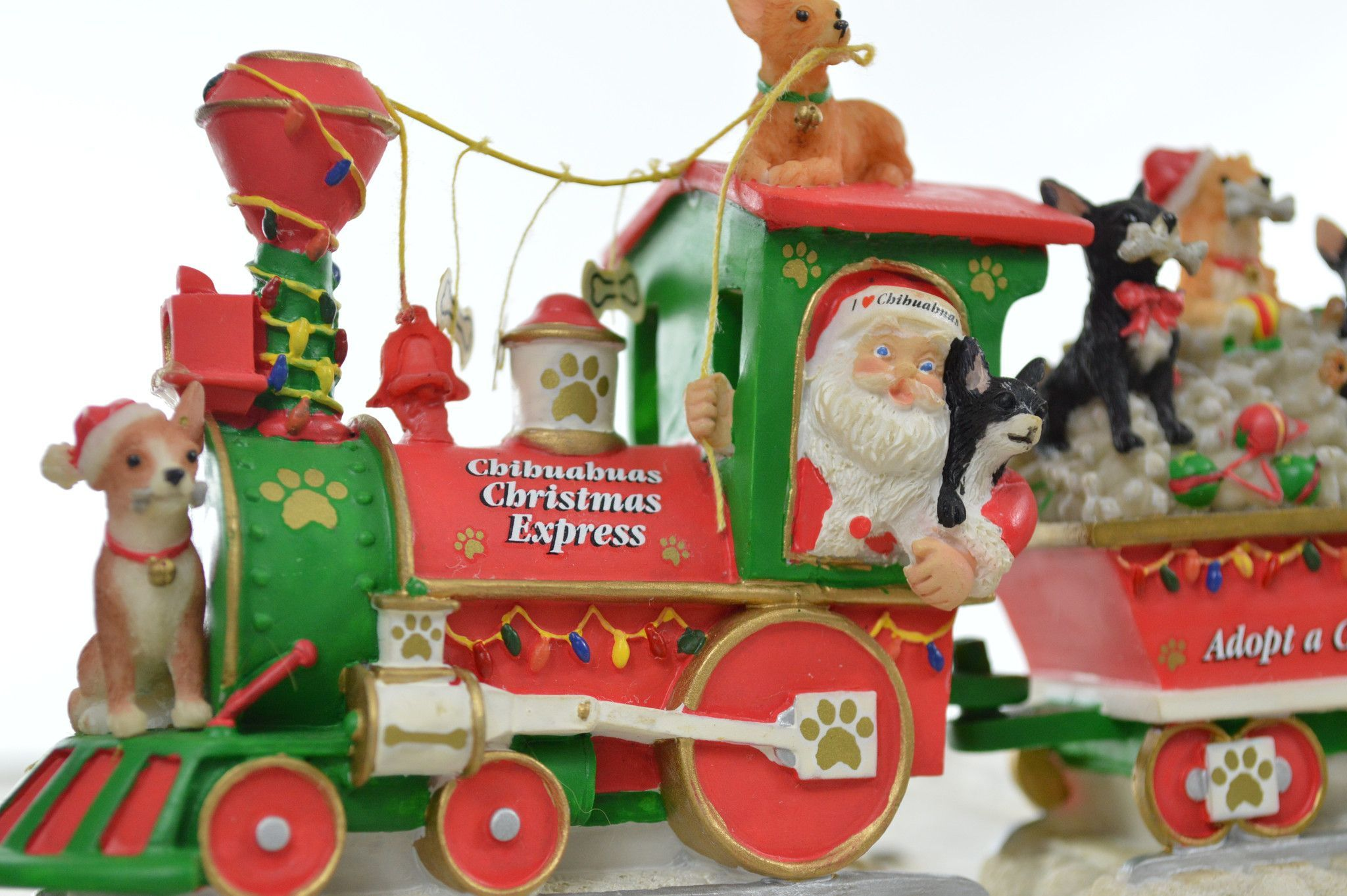 small resolution of danbury mint chihuahua christmas express train sculpture in original packaging christmas clipart christmas nativity