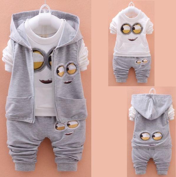 e0c3b426b608f Conjunto de Agasalho Infantil Recém-nascidos   Colete + Camiseta + Calça 3  Peças.