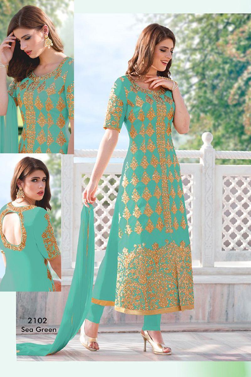 Whatsapp :- +91 9377709531 Sky-Blue-Stylish-Wedding-Wear-Cotton ...