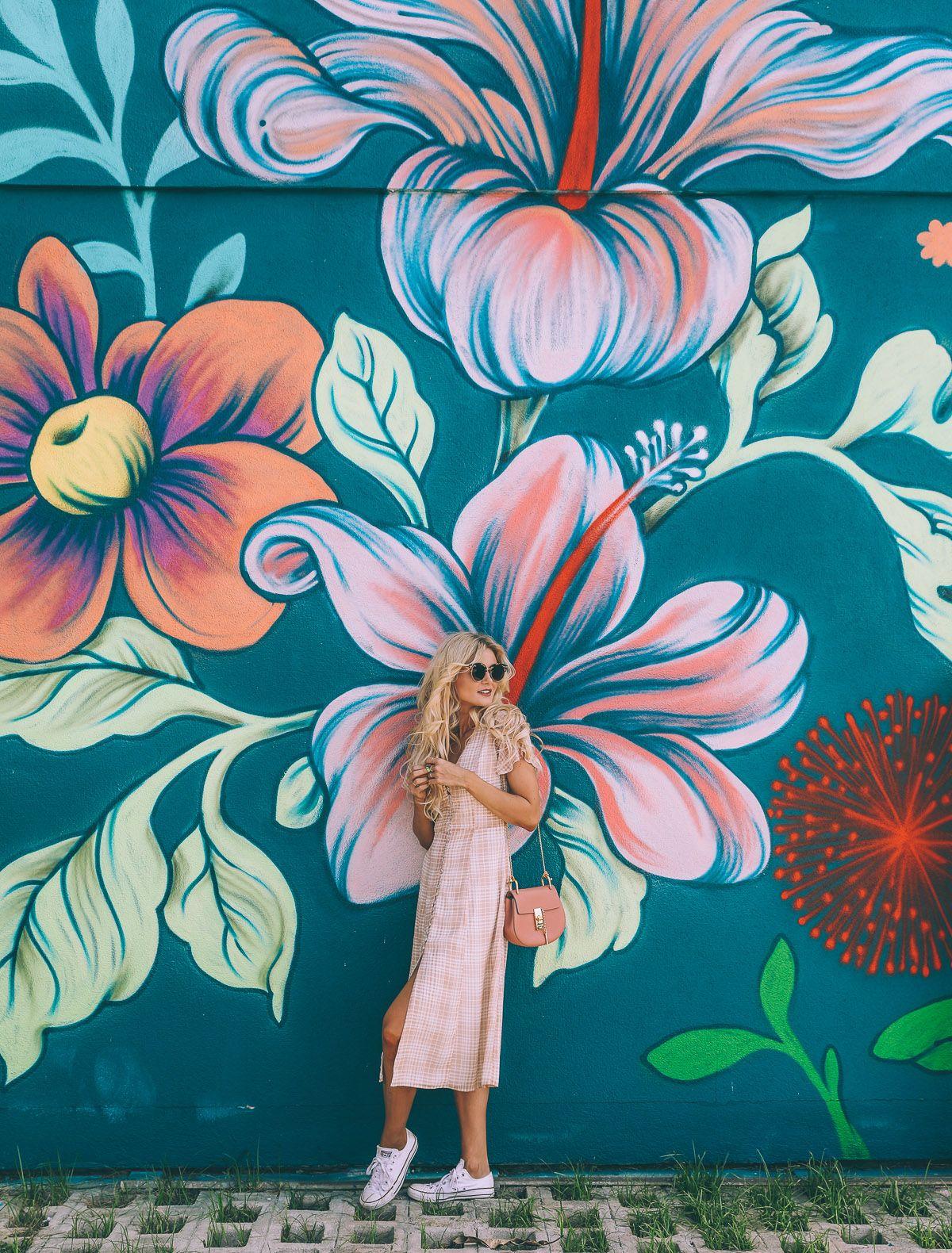 Barefoot blonde amber fillerup style flower mural murals street
