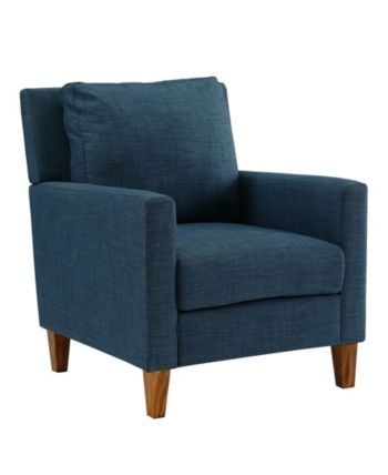 Best Pillow Back Accent Chair In Blue Blue Blue Accent 400 x 300