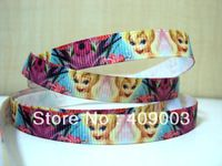 10Y4476 free shipping 3/8 ''printed ribbon Grosgrain ribbon whole sale and OEM