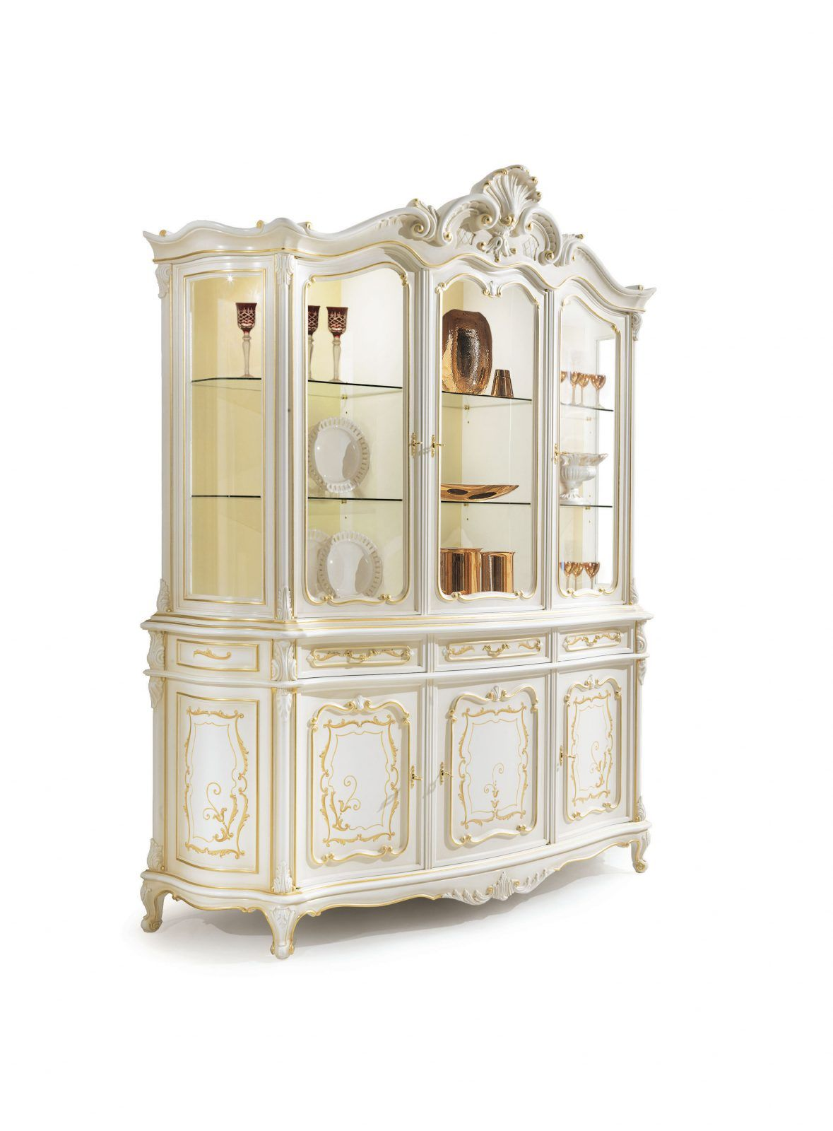 Lacquered Baroque dining room furniture | Sala da pranzo ...
