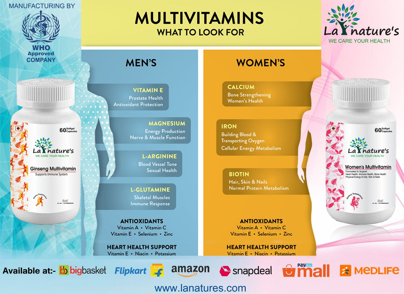 """La Nature's is a """"NUTRACEUTICAL COMPANY"""". We possess a"""