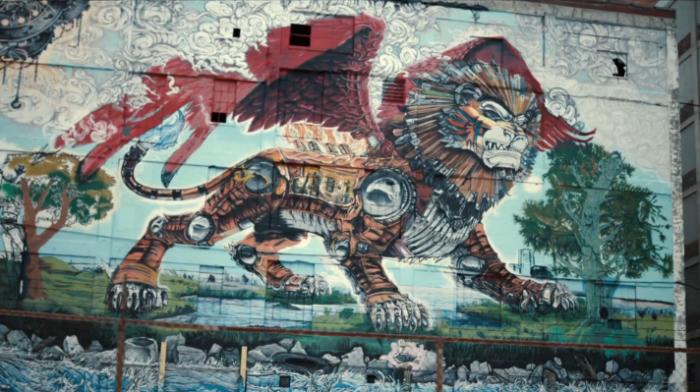 lion graffiti detroit - Google Search