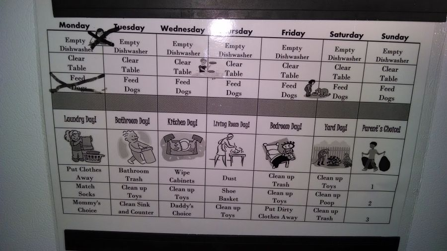 Chore chart for a 5 year old chore chart family project