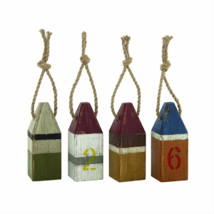 Wooden Lobster Style Buoys Set of 4