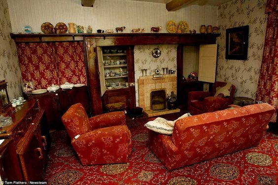 Check Out This English Farmhouse Frozen In The 1940s Living RoomVintage
