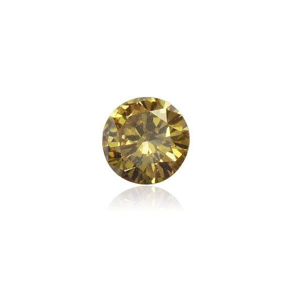 0.20 ct Brownish Greenish Yellow Round BrilliantDiamond - www.thegembank.com