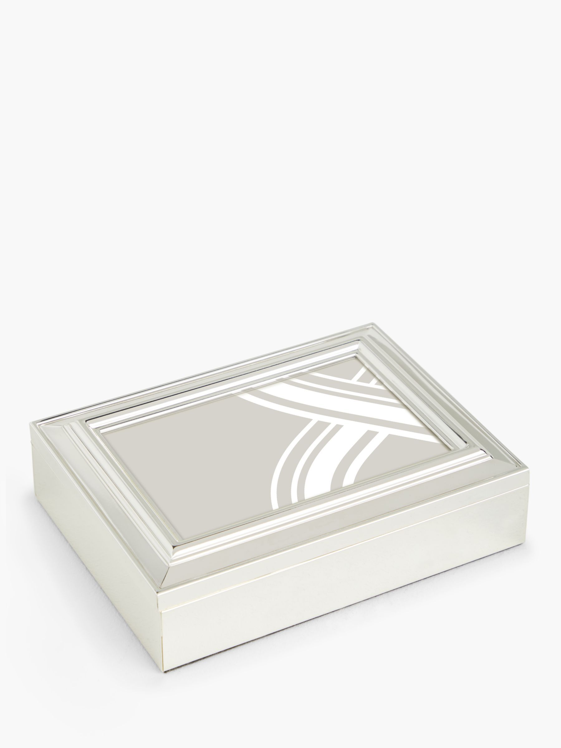 John Lewis Partners Constance Photo Frame Keepsake Box 4 X 6 10 X 15cm Silver Plated Keepsake Boxes John Lewis Frame