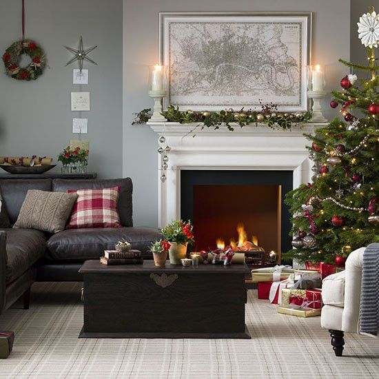 Traditional Christmas Living Room Ideas