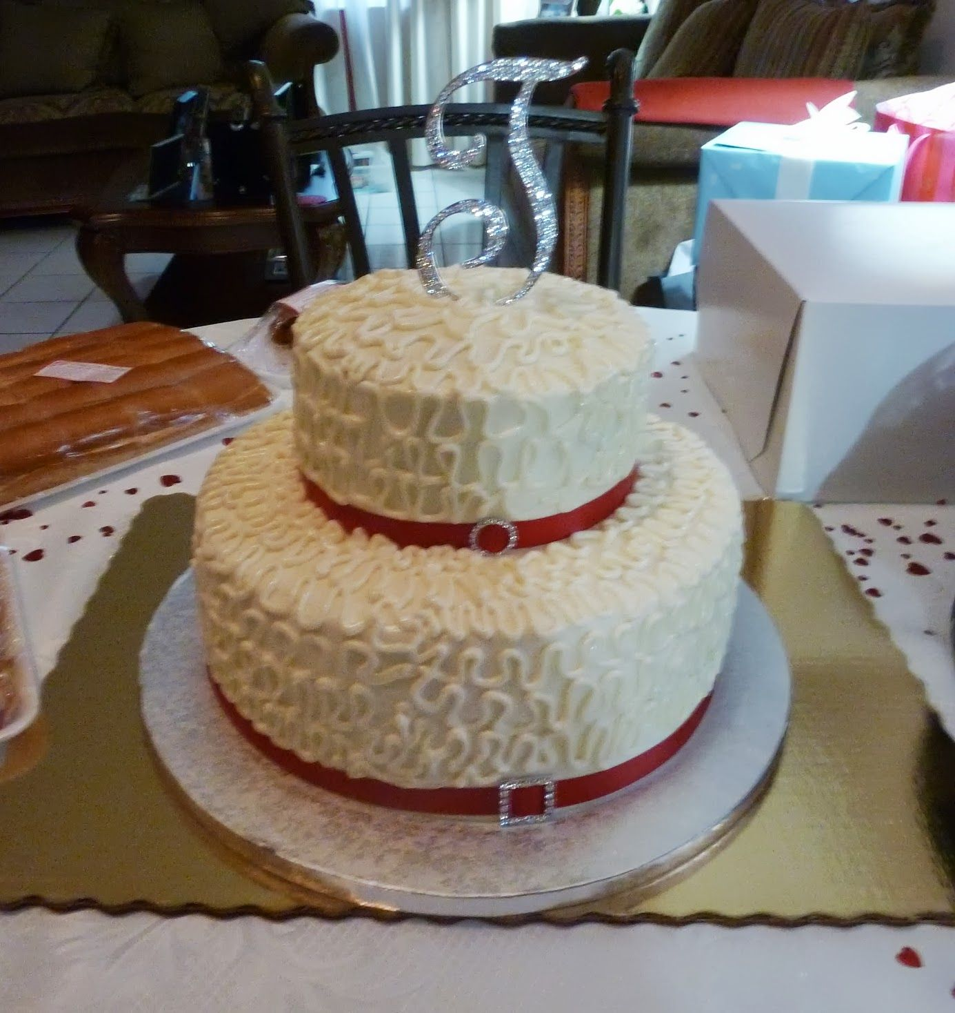 40th Ruby Anniversary Raspberry Elegance Cake Made And