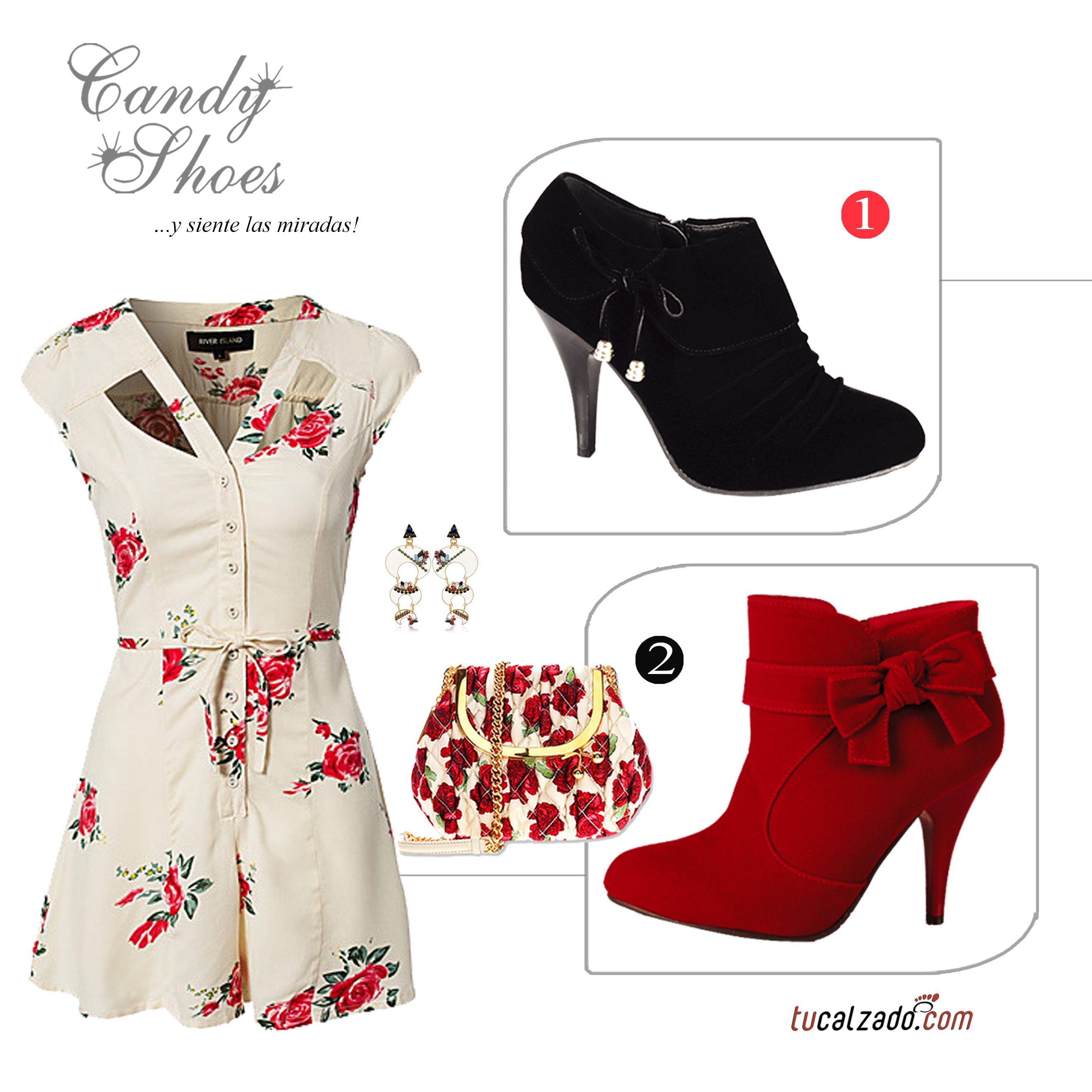 ¡Botines de ensueño!  www.tucalzado.com #Botines #Zapatos #Rojos #Negros #Moda #Tendencias