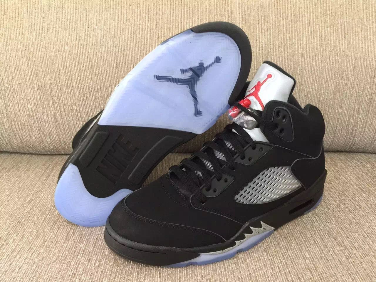 2bf52511eb4 Another Look At The Air Jordan 5 OG 90 Black/Metallic Silver. Authentic Air  Jordan 5 Retro ...