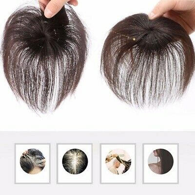 Details about 100% Human Hair Topper Clip in Thin