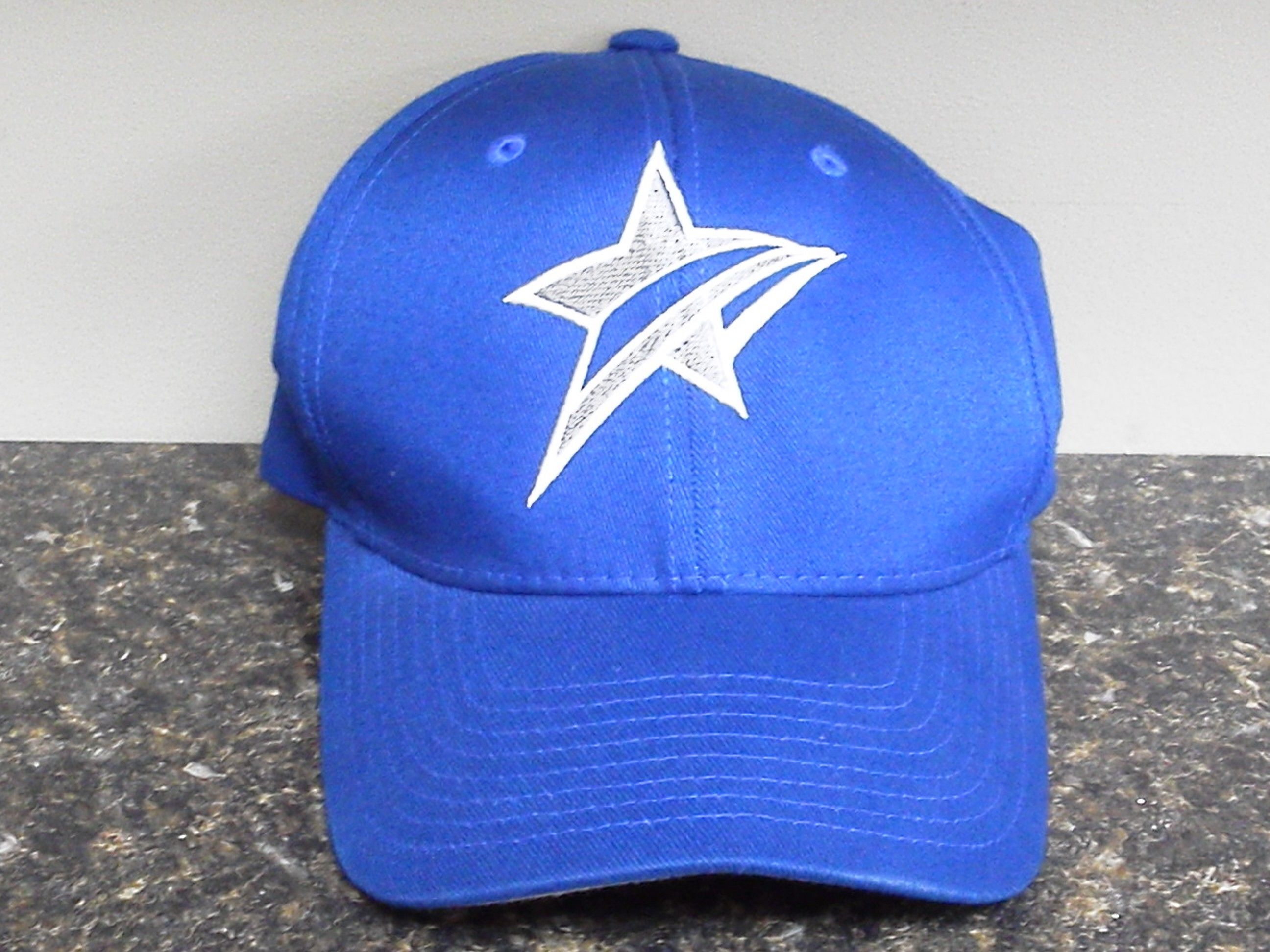 Adjustable, solid blue, Star hat 12 Softball outfits