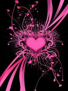 Pink Black Love Pink Wallpaper Heart Wallpaper Pink And Black Wallpaper