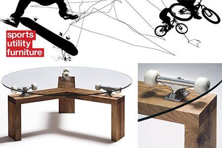 Wonderful Sports Utility Furniture   360 Skateboard Truck Table