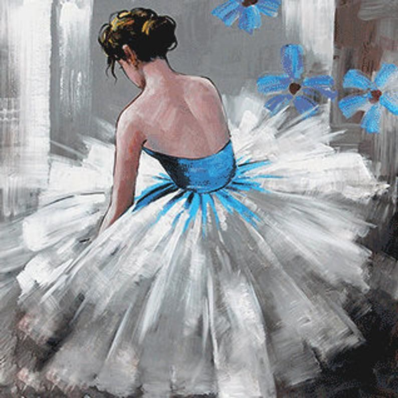Ballerina fine art Dancer oil painting on Canvas O